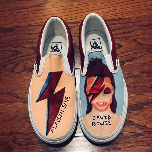 a69eb329943 Vans Custom Hand Painted David Bowie Sneakers 9. M 5b6e2ee242aa764d3b1f2105